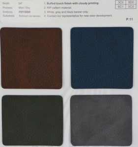 Waterproof PU Nubuck Leather for Shoes and Gloves pictures & photos