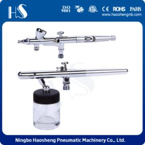 Haosheneg Dual Action Airbrush Kit with Two Airbrush (HS-280K) pictures & photos