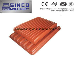 Mn13cr2 Mn18cr2 Metso Shanbao Crusher Parts Jaw Plate