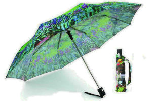 Paper Print 3 Section Automatic Umbrellas (YS-3FA22083561R)