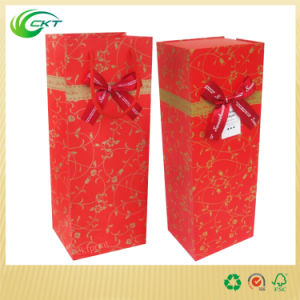 Wine Bottle Corrugated Cardboard Gift Box with Handle (CKT-PB-004) pictures & photos
