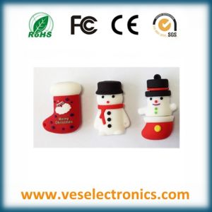 Promotional Christmas Gift USB Drive Custom Cartoon Pen Drive pictures & photos