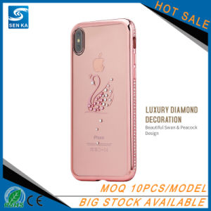 Star Elegant Series Electroplate TPU with Rhinestone Case for iPhone X pictures & photos
