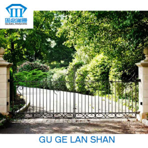 Rust-Proof/Antiseptic/High Quality Crafted Wrought Iron Door for Garden pictures & photos