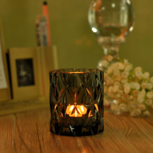 Diamond Amber Votive Glass Candle Holder pictures & photos