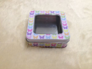 Tin Box with Clear Window for Food and Gift pictures & photos