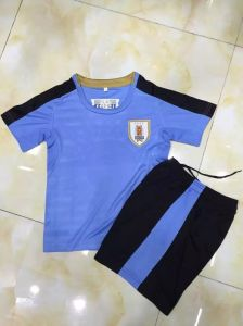 2016 Uruguay Home Kid Soccer Kit pictures & photos