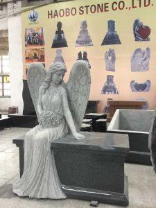 China Granite Angel Memorials Bench pictures & photos