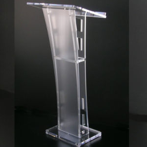 Modern Design Clear Acrylic Podium Pulpit Lectern Lucite Lectern Plexiglass Church Pulpits pictures & photos