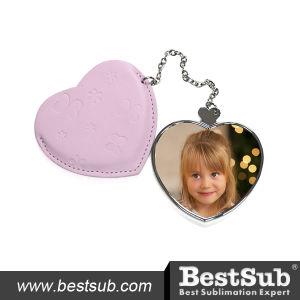 Heart Shaped Hand Mirror with Leather Case (JB17) pictures & photos