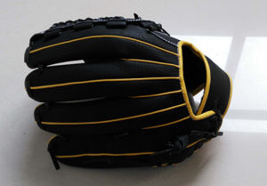 Professional Customized Black Baseball Glove (06) pictures & photos