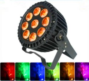 DMX512 Outdoor IP65 Waterproof 9*12W RGBWA 5in1 LED Slim PAR Can Light pictures & photos