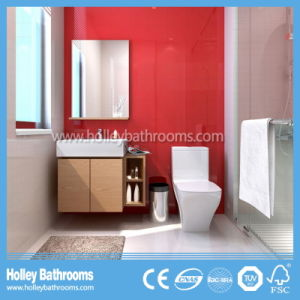 Modern Wood MDF Bathroom Furniture Glass Craft with Storage Cabinet (BF140D) pictures & photos