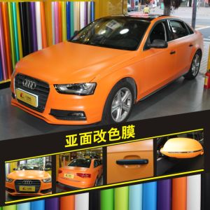 Matte Car Wrapping Film of Color Sticker pictures & photos