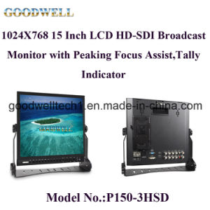 Peaking Focus Broadcast 15 Inch TFT LCD pictures & photos