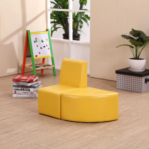 Hot Sale Kids Sofa with Ottoman for Kindergarten Furniture pictures & photos