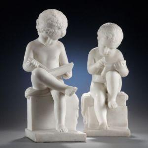 Children Marble Statue, Stone Sculpture