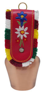 Souvenir Cowbell with Embroidered Strap