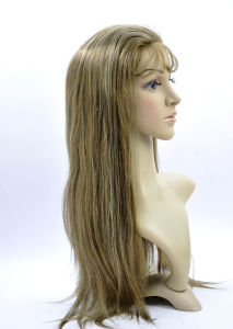 Mix Color 100% Human Hair with PU Cap Full Lace Wigs pictures & photos