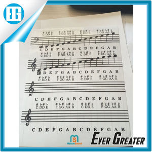 Custom Transparent Sticker, Piano Keyboard Keymap Notemap Removable Vinyl Stickers pictures & photos