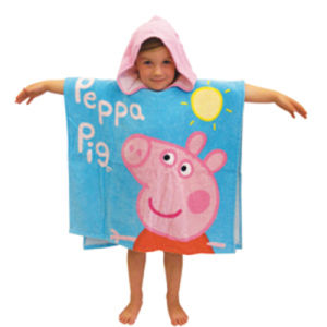 100% Cotton Competitive Kids Printed Beach Poncho Bath Poncho pictures & photos