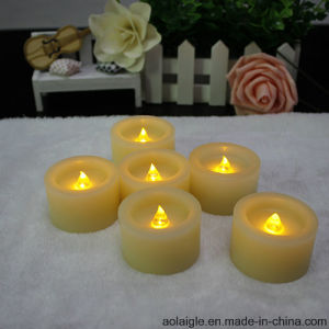 Yellow Flameless Mini LED Wax Candle with Timer Function