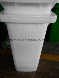 Two Wheels 120L Plastic Waste Bin HDPE with Open Top Lids pictures & photos