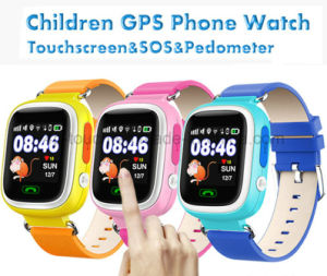 Triple-Positioning Kids Smart GPS Tracker Watch with Colorful Screen D15 pictures & photos