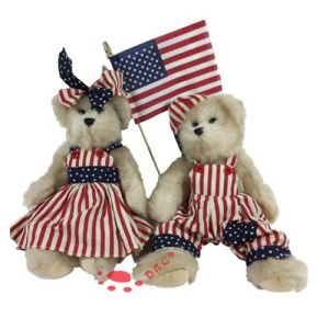 Plush USA Patriotic Boy and Girl Bears pictures & photos