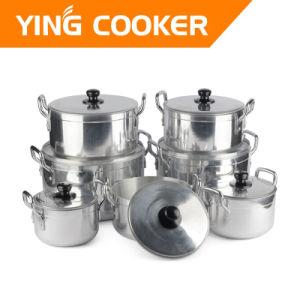7PCS Aluminum Polishing 6.5kgs Cookware Casserole Sauce Pots Sets (YS-014B)
