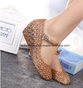 Lady Latest High Quality Crystal Jelly Sandals (FF614-7) pictures & photos
