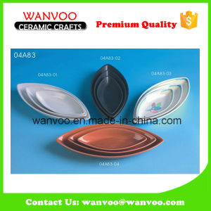 Wholesale Cheap Leaf Shaped Small Ceramic Baking Dish pictures & photos