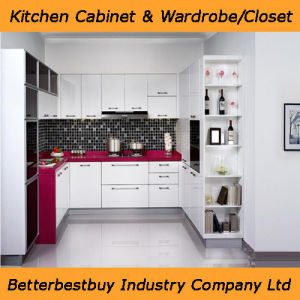 Red Color Lacquer Kitchen Cabinet pictures & photos
