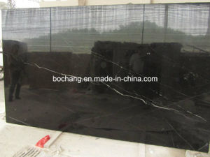 Polished Black Marquina Marble Slab for Decoration Material pictures & photos