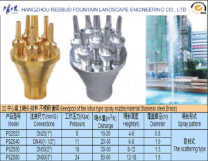 Seedpod of The Lotus Type Spray Nozzle in Stainless Steel or Brass pictures & photos
