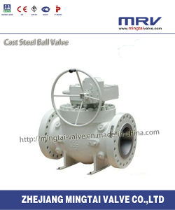 Flanged Ends Top Entry Cast Steel Ball Valve