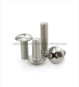 Fastener Stainless Steel Round Head Screw/ Cross Machine Screw M3-M4 pictures & photos