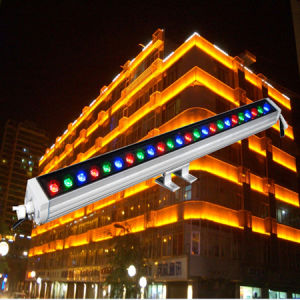 DMX 18*3W Waterproof Outdoor Colourful LED Wall Washer Linear Lighting