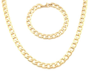 Stainless Steel Gold Fashion Jewelry Necklace Set pictures & photos