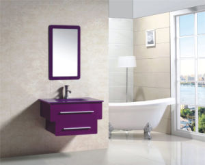 Colorful Christmas Gift PVC Modern Purpe Bathroom Mirrored Cabinet (9036-5) pictures & photos