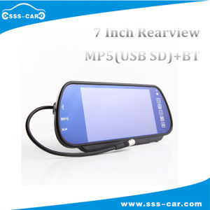 7 Inch TFT LCD Car Rear View Mirror Monitor with USB/SD/Handsfree Bluetooth