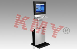 Height Adjustable Touch Screen Kiosk with Keyboard pictures & photos