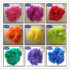 Dope Dyed Recycled Polyester Staple Fiber PSF pictures & photos