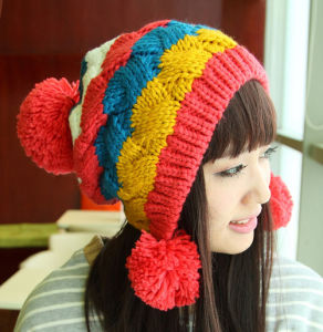 Lady Fashion Winter Knitting Beanie Crochet Hat pictures & photos
