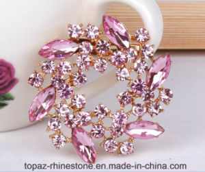 Wedding Dress Accessories Round Diamonds Crystal Rhinestones Brooch (TB-034 round) pictures & photos