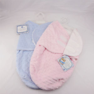 Solid Color Embossed Micro Mink and Sherpa Baby Sleeping Bag (HR01SB003) pictures & photos