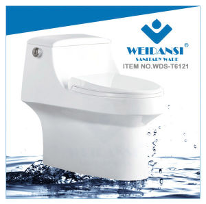 Weidansi Ceramic Siphonic S-Trap One Piece Toilet (WDS-T6121)
