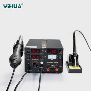 Yihua 853D 1A Sodering Station 3 in 1 Mobile Phone BGA Rework Station pictures & photos