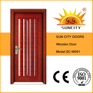 Economic Solid Panel Wood Interior Doors for House (SC-W091) pictures & photos