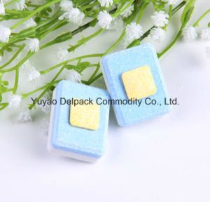 OEM&ODM No Phosphate & Yellow Square Core Dishwasher Detergent Tablets, Auto Dishwasher Detergent Tablets pictures & photos